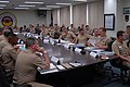 US Navy 070808-N-4124C-001 Participants of Expeditionary Strike Group (ESG) 7 Commander's Conference listen to opening remarks by ESG-7 Commander, Rear Adm. Carol M. Pottenger.jpg