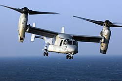 US Navy 080708-N-4014G-085 A V-22 Osprey aircraft from the.jpg