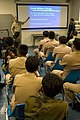 US Navy 090209-N-1251W-109 Senior Chief Damage Controlman Erich Buhler gives a chemical, biological, and radiological presentation to personnel from the Royal Thai Navy.jpg