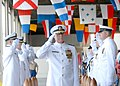 US Navy 090925-N-5476H-046 Adm. Robert. F. Willard renders a salute as he passes through side boys during a change of command ceremony at Naval Station Pearl Harbor.jpg