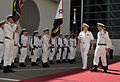 US Navy 110412-N-ZB612-039 Chief of Naval Operations (CNO) Adm. Gary Roughead inspects Israel Naval Forces sailors during a welcoming ceremony in T.jpg
