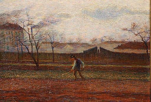 Umberto boccioni, contadino al lavoro, 1908-10, 02