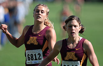 Minnesota Golden Gophers - Women's Cross Country Team runs the OZ invitational on the Les Bolstad Golf Course.