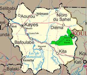 Location of Kayes