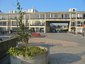 University of Essex - Square 5 seen from outside the library