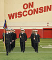 University of Wisconsin Navy ROTC midshipmen perform a maneuver during the platoon drill competition in the McClain indoor practice facility at the 37th annual University of Wisconsin Navy ROTC Fall Invitational 091010-N-IK959-679.jpg