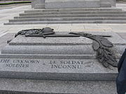 Close-up view of the Canadian Tomb of the Unknown Soldier