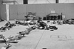 """Untersuchung der Wrackteile der Convair CV-990-30 A Coronado, HB-ICD """"Basel-Land"""" nach dem Bombenanschlag am 21.2.1970.jpg"""
