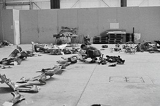 Swissair Flight 330 - Investigation of the crash debris.