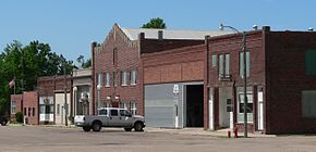 Upland, Nebraska Prairie Ave from Railway St.JPG