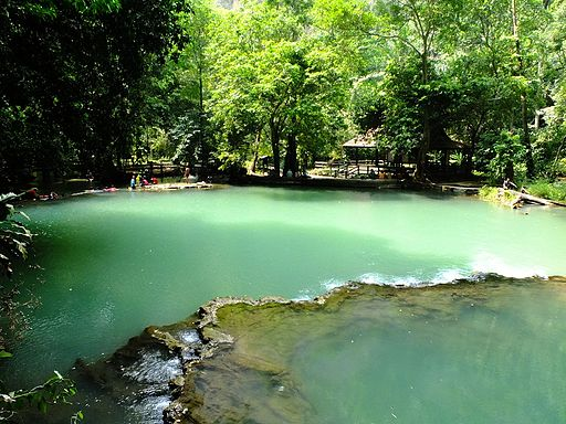 Uppermost pool of Thanbok Khoranee waterfall