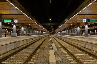 Uppsala Central Station - Tracks at Uppsala Central Station.