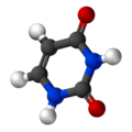 Ball-and-stick model of uracil