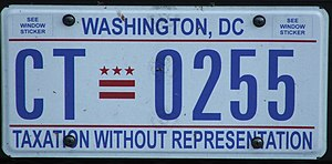 English: US Registration plate as seen in 2008...