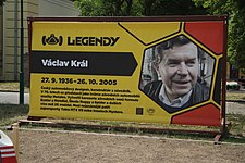 Václav Král poster at Legendy 2018 in Prague.jpg