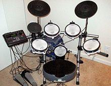 A MIDI drum kit