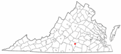 Location of Keysville, Virginia