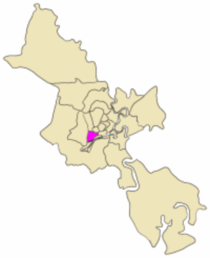 District 6, Ho Chi Minh City - Map showing the location of District 6 within metropolitan Ho Chi Minh City