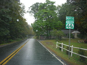 Vermont Route 44A - First reassurance marker on VT 44A northbound