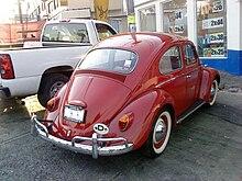 ec970492b 1965 1200 Volkswagen Beetle. Rear view.