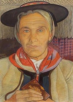 Valais woman with prayer book. 1923