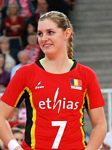 Valerie Courtois 02 - FIVB World Championship European Qualification Women Łódź January 2014.jpg