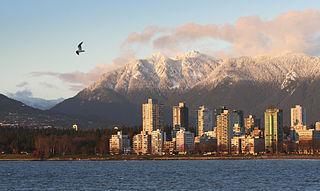 Neighbourhood of Vancouver in British Columbia, Canada
