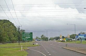 Stuart Highway - Stuart Highway intersection in Berrimah, Northern Territory