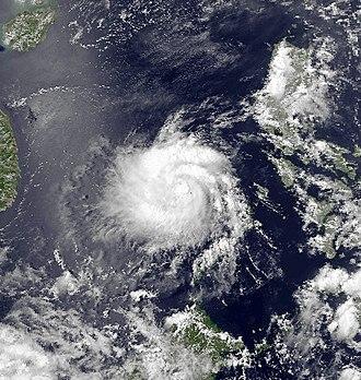 1991 Pacific typhoon season - Image: Vanessa Apr 26 1991 0634Z