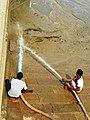Varanasi 52b3 - ghat cleaning (36573837024).jpg