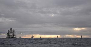 Velas Sudamerica 2010 - The Velas Sudamérica 2010 fleet turning around Cape Horn
