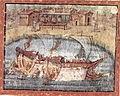 Vergilius Vaticanus - Les bateaux troyens passent devant la maison de Circée f58r.jpg