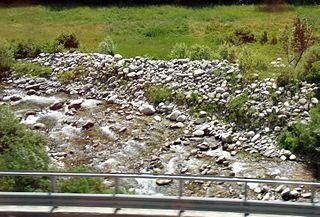 Vermenagna Stream in Piedmont, Italy
