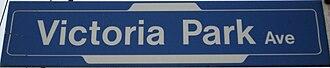 Victoria Park Avenue - Image: Vic Park Sign