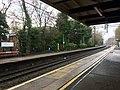 View northbound from platform 1, Poynton railway station.jpg