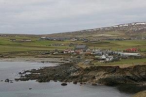 Sandwick, Shetland - Image: View over the Geo of Sandwick geograph.org.uk 1701768