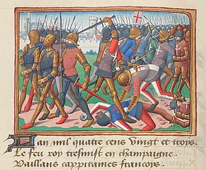 John Stewart, Earl of Buchan - The Battle of Cravant in 1423, where Buchan was defeated and captured.