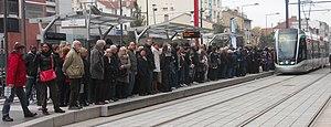 Île-de-France tramway Line 7 - Station Villejuif Louis Aragon on 16 November 2013