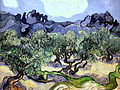 Vincent van Gogh - painting of olive trees (1889).JPG
