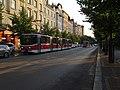 Vinohrady, náměstí Jiřího z Poděbrad, Vinohradská, tramvaje.jpg