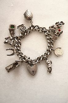 An Antique Silver Charm Bracelet