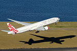 Virgin Australia Boeing 777-3ZGER take off from Sydney Airport.jpg
