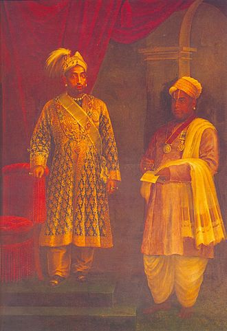 Visakham Thirunal - The Maharaja with his Dewan