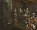 Visit in a Sculptor's Studio (Balthasar van den Bosch) - Nationalmuseum - 22551.tif