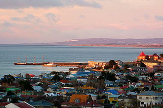 Punta Arenas - The County of Peebles and Cavenga are used as a breakwater for the harbour at Punta Arenas.