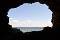 Vista cap a la mar des de la cova Tallada.JPG