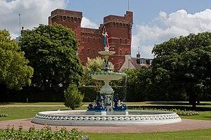 Vivary Park - Image: Vivary fountain 3 2793