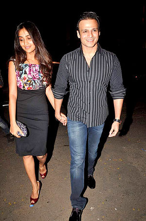 Vivek Oberoi - Oberoi with his wife Priyanka, in 2012