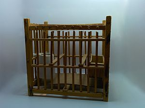 Harz Roller - Transport birdcace for canaries as used for the Harzer Roller canary breed in the 18th and 19th century.