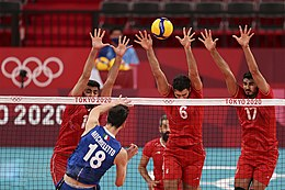 Volleyball at the 2020 Summer Olympics – Men's Iran vs Italy (1).jpg